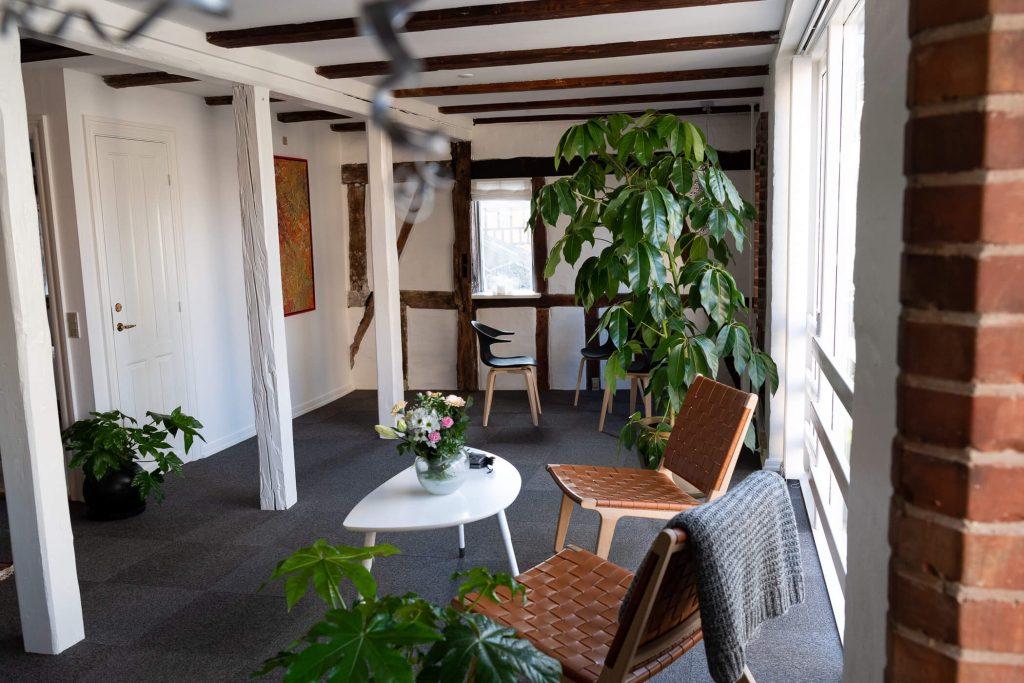 Zency Massage Aarhus venteværelse